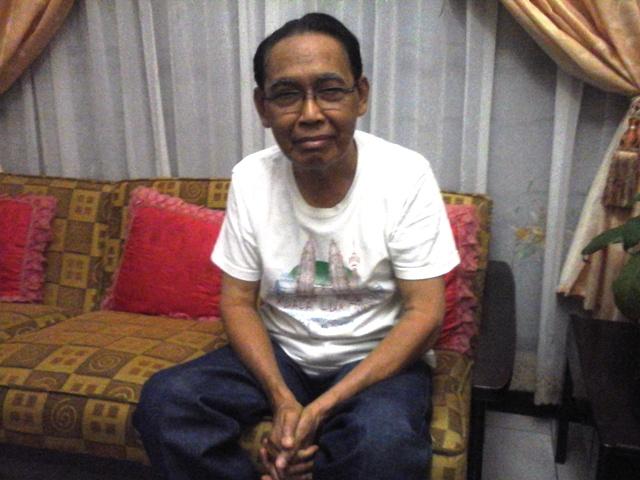 Fx. Efendi saat di kediamannya, Kedaton, Bandar Lampung (21/08).
