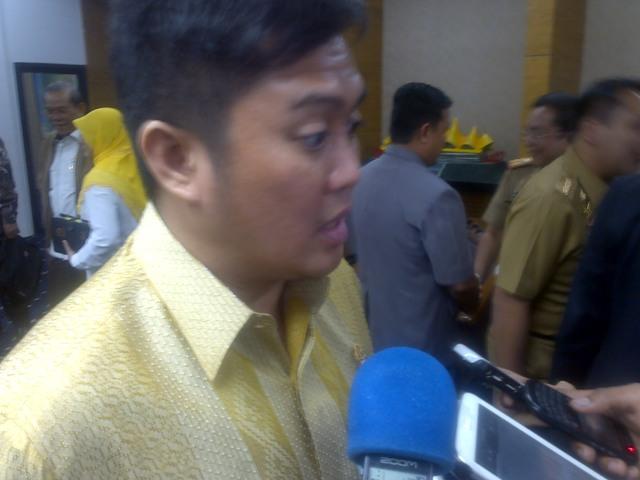 Anggota Komisi II DPR RI Frans Agung Mula Putra dalam wawancaranya di Bandar Lampung, Selasa (04/08).
