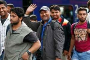 Kedatangan para migran disambut dengan sukacita oleh warga Jerman