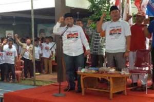 Pasangan calon bupati dan wakil bupati Way Kanan Bustami Zainudin - Adinata