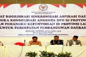 Anggota DPD RI asal Lampung Serap Aspirasi Pemangku Kepentingan Daerah 2