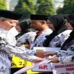 Ini Suasana Peringatan Hari Guru Nasional dan HUT ke-70 PGRI di Lampung
