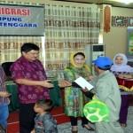 Transmigran Asal Lampung Diberangkatkan