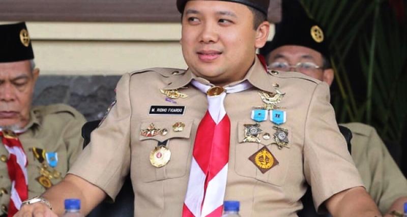 Ketua Mapida Gerakan Pramuka Lampung M. Ridho Ficardo.