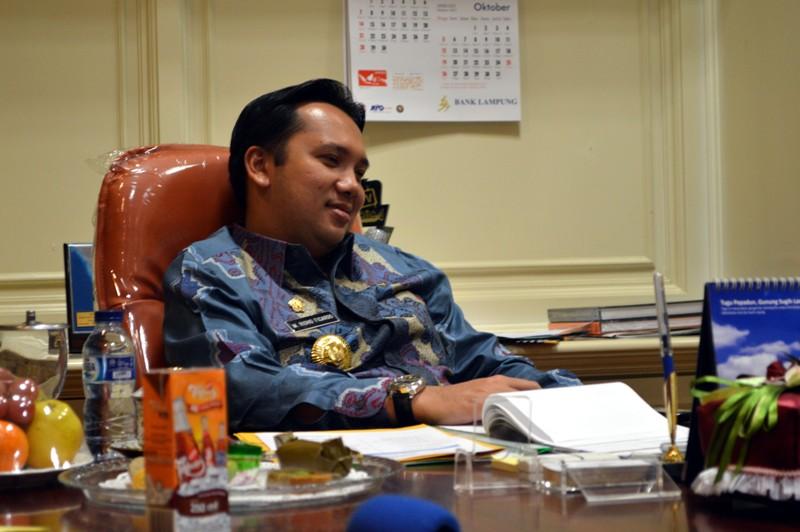 Gubenur Lampung M. Ridho Ficardo. Foto : Robert