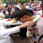 Sampai di Lampung Kapolda Brigjen (Pol) Ike Edwin disambut prosesi adat Kerajaan Skala Brak