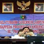 Lancarkan Pembangunan Infrastruktur, Gubernur kumpulkan Bapeda se-Lampung