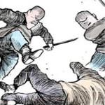 Seorang Pemuda Dikeroyok 4 Pria Berambut Cepak dengan Bayonet