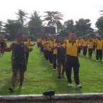 Pererat Silaturahmi, TNI-Polri Gelar Senam Bersama