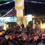 Warga Lampung Protes PLN Lewat Aksi 1.000 Lilin