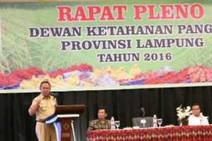 Pleno Dewan Ketahanan Pangan Provinsi Lampung 2