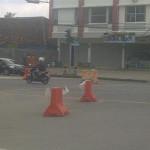 Jalur Jalan dr Rivai Ditutup, Pengendara Makin Susah ke RSUDAM Lampung