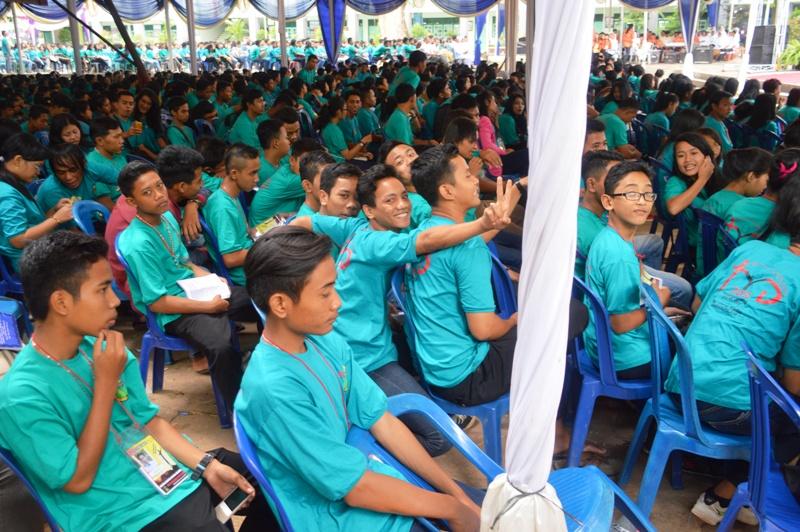 Para peserta Tanjungkarang Youth Day pada Juli 2015 lalu.
