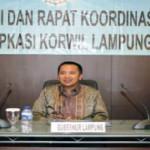 Pesan Gubernur pada Rakor Asosiasi Pemerintah Kabupaten Seluruh Indonesia Korwil Lampung