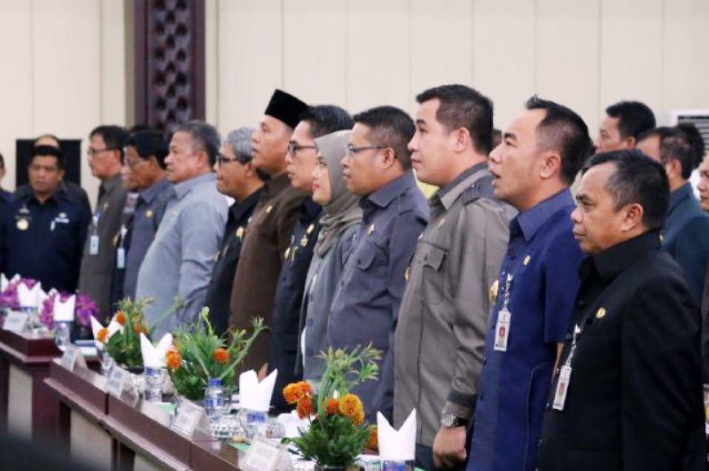 Para Kepala Daerah kabupaten/kota  pada acara pembekalan di Gedung Pusiban Kantor Gubernur Lampung, Rabu 13 April 2016.