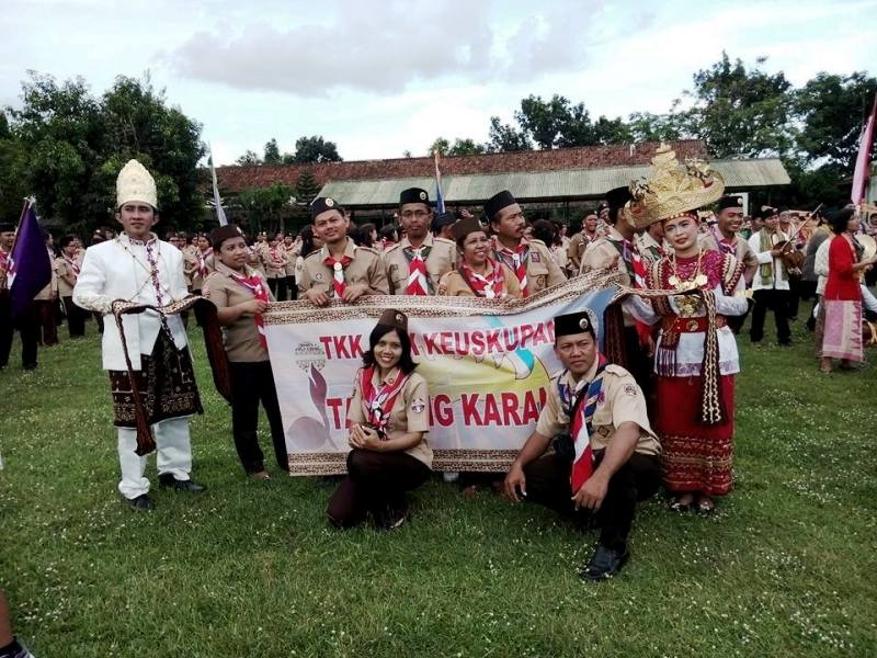 Kontingen asal Lampung Temu Pembina III/2016 di lapangan Dodiklatpur Rindam IV/Diponegoro, Desa Glodogan, Kecamatan Klaten Selatan.