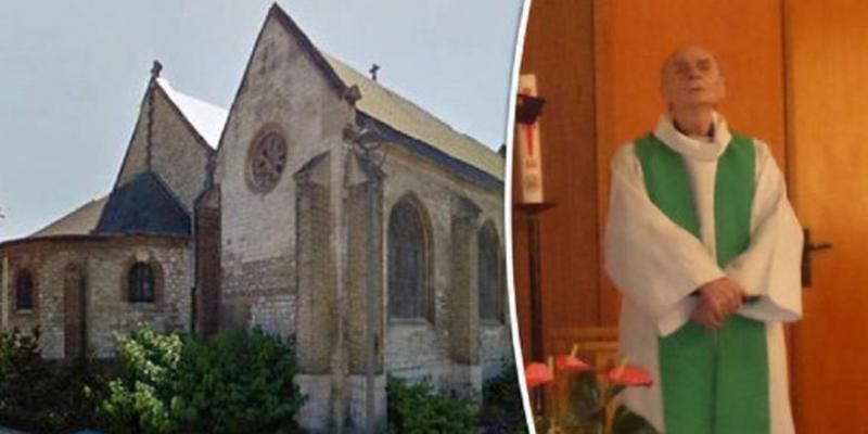 Pastor Jacques Hamel dibunuh dengan keji di dalam gereja di Perancis, Selasa 26 Juli 2016, oleh dua penyerang. Foto : Daily Express