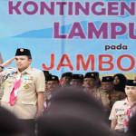 Gubernur Lampung Lepas Kontingan Pramuka ke Jambore Nasional