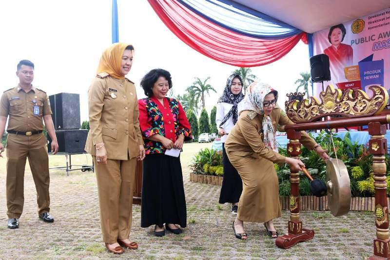 Pembukaan Public Awareness di Lapangan Korpri Kantor Gubernur Provinsi Lampung Selasa 30 Agustus 2016.