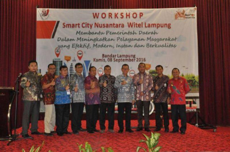 Workhshop Smart City Nusantara (SCN) Witel Lampung di Bandar Lampung Kamis 08 September 2016.