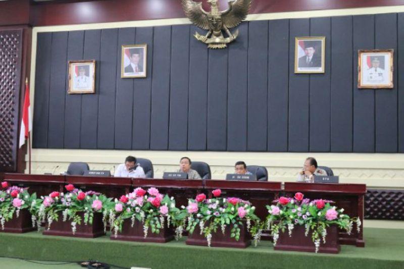 Sosialisasi rencana pengadaan Tanah Jalan Tol Terbanggi Besar-Pematang Panggang di Gedung Pusiban Lingkup Kantor Pemerintah Provinsi Lampung, Kamis 15 September 2016.