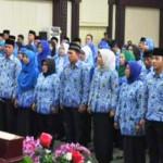 150 PNS di lingkungan Pemerintah Provinsi Lampung lakukan sumpah jabatan