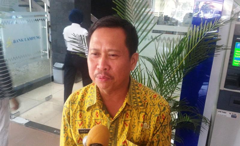 Kepala Bagian Produksi Biro Perekonomian Setdaprov Lampung Hazai Fauzi. Foto : Robert