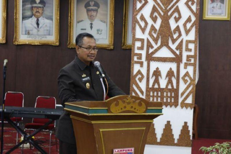 Pj. Sekretaris Daerah Provinsi Lampung di Ruang Abung Balai Keratun, Senin 10 Oktober 2016.