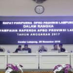 Pada rancangan struktur APBD Provinsi Lampung tahun anggaran 2017 belanja daerah dianggarkan sebesar 6,8 trilyun