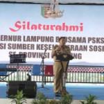 Ribuan para PSKS se-Provinsi Lampung mendapat bantuan fari Gubernur M Ridho Ficardo