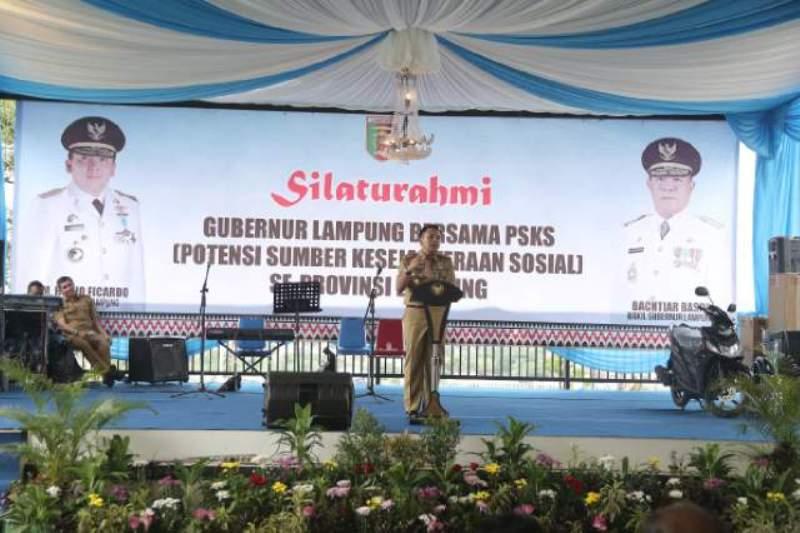 Gubernur Lampung M Ridho Ficardo.
