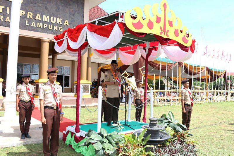 Ka Mabidari Bachtiar Basri saat membuka Raida ke V Selasa 20 Desember 2016.
