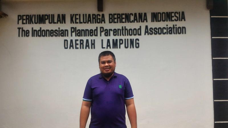 Koordinator Pencegahan HIV dan AIDS PKBI Lampung Rachmad Cahya Aji.