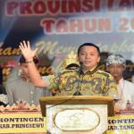 Gubernur Lampung Ridho Ficardo membuka Utsawa Dharma Gita Umat Hindu