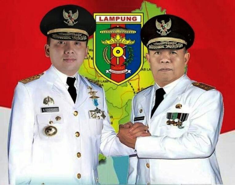 Gubernur Lampung M Ridho Ficardo dan Wagub Bachtiar Basri. Foto : Diskomingfo Lampung