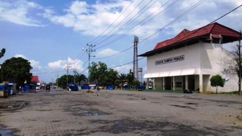 Area gelanggang PKOR Way Halim. Foto : http://lampung.tribunnews.com
