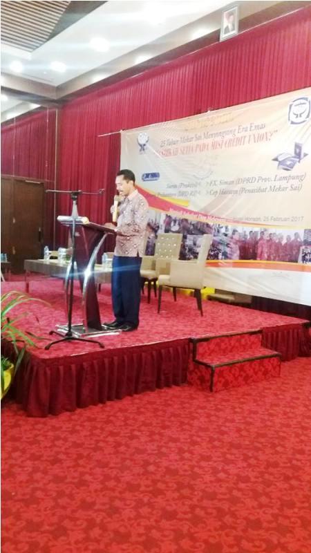 Ketua Dewan Pengurus Kopdit Mekar Sai Andreas Muhi Pukai