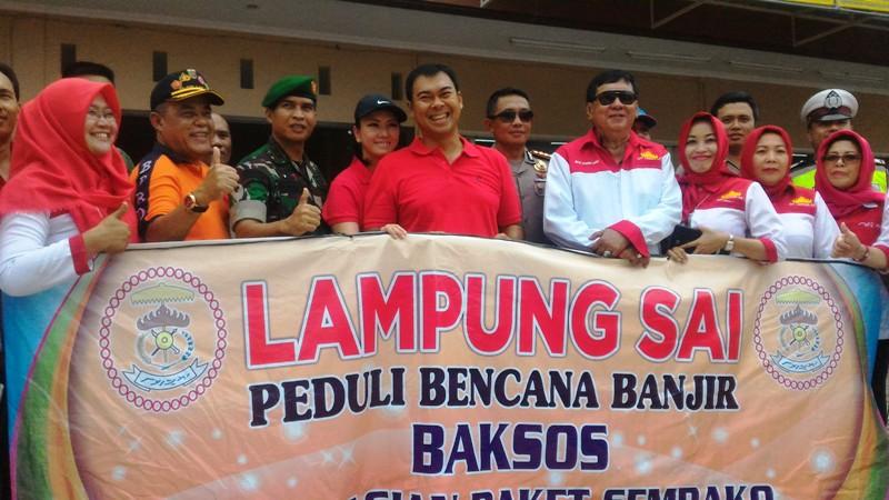 Ketua Bidang Pemuda dan Olahraga DPP Lampung Sai Rycko Menoza SZP (tengah).