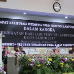 HUT Provinsi Lampung ke-53, DPRD Provinsi Lampung Lakukan Sidang Paripurna Istimewa