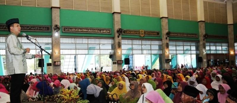 Gubernur Lampung M Ridho Ficardo saat di Islamic Center beberapa waktu lalu.