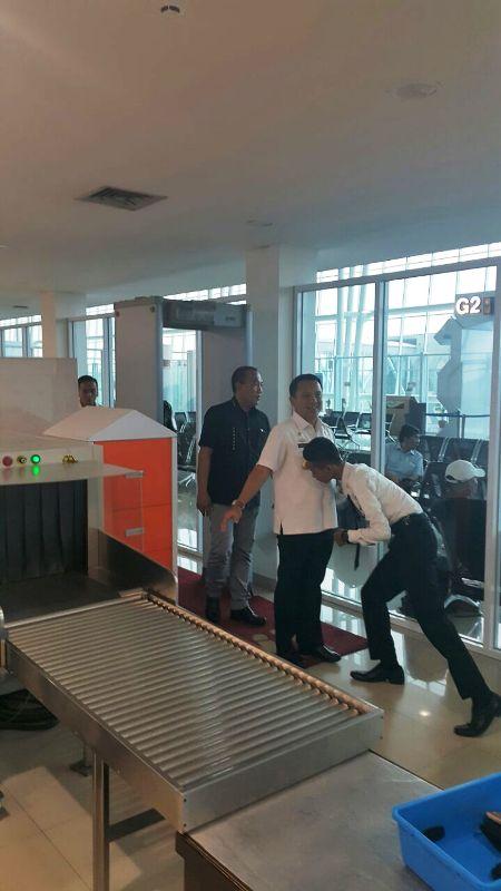 Gubernur Lampung M Ridho Ficardo saat di Bandara Raden Inten II Lampung Selatan, Rabu 08 Maret 2017.