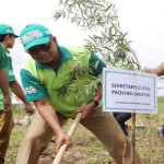 Sekretaris Daerah Provinsi Lampung Sutono Resmikan Arboretum ITERA