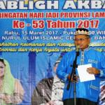Peringatai HUT ke-53 Provinsi Lampung Selenggarakan Tabligh Akbar