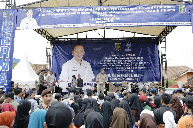 Gubernur Lampung M Ridho Ficardo