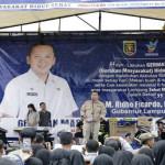 Gubernur Ridho Hadiri Gerakan Masyarakat Hidup Sehat di Tanggamus