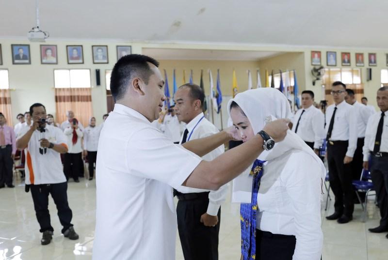 Gubernur Lampung M Ridho Ficardo pada acara Diklatpim Tingkat III Angkatan I se-Provinsi Lampung di Aula BPSDM Provinsi Lampung, Rabu 29 Maret 2017.