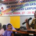 Forum Komunikasi LKS Provinsi Lampung Selenggaraan Bimtek NSPA dan Akreditasi LKSA/PSAA