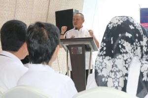 Wakil Gubernur Lampung Bachtiar Basri di Hotel Novotel, Bandar Lampung Rabu 12 April 2017.