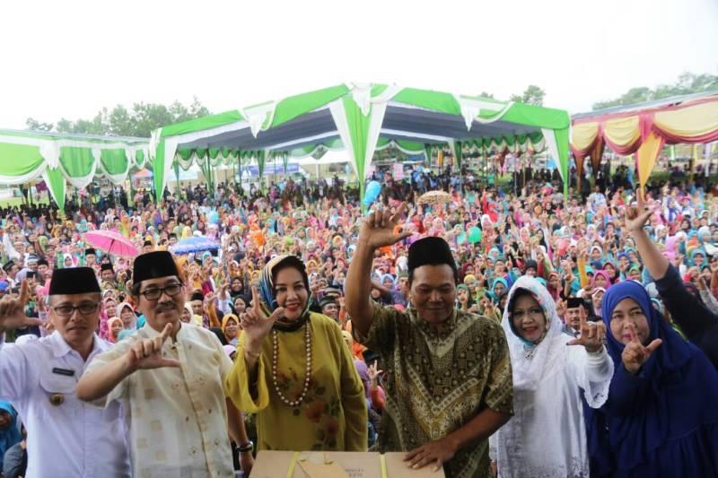 Antusiasme Germas di Lapangan Desa Tri Tunggal, Lampung Timur Rabu 26 April 2017