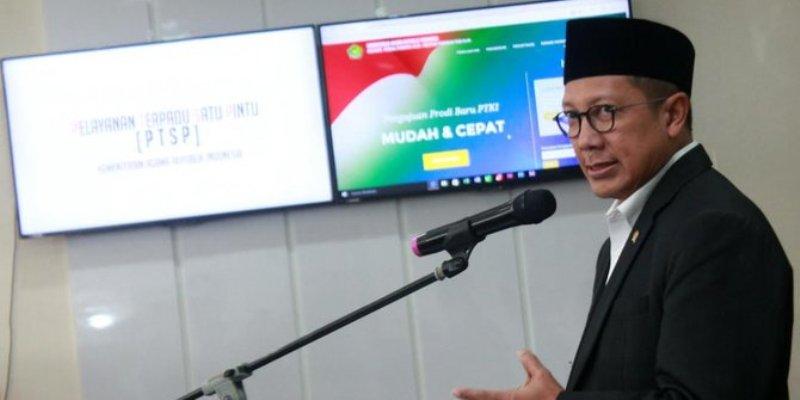 Menag luncurkan PTSP di kantor Kemenag. ©2017 merdeka.com/muhammad luthfi rahman